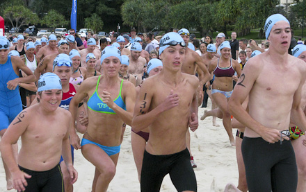 2011 Noosa Run-Swim-Run Race Start